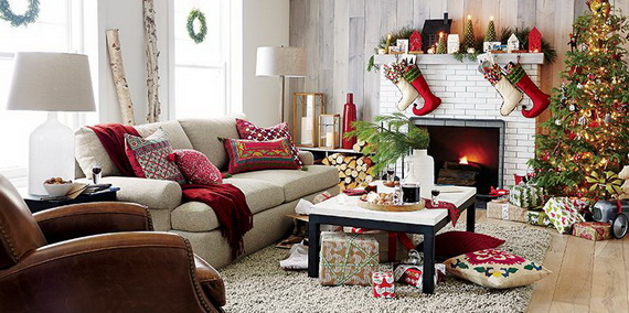 Celebrate the holiday season with an open house - How to decorate living room for christmas ...